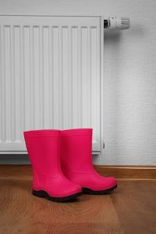 Radiateur de chauffage avec bottes en caoutchouc