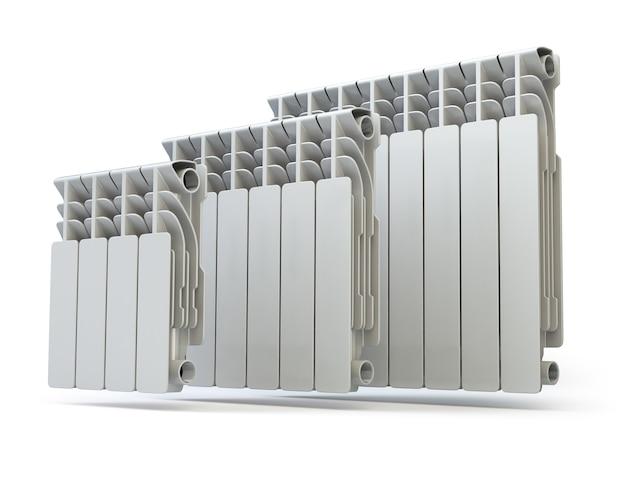 Radiateurs de chauffage isolés sur fond blanc 3d