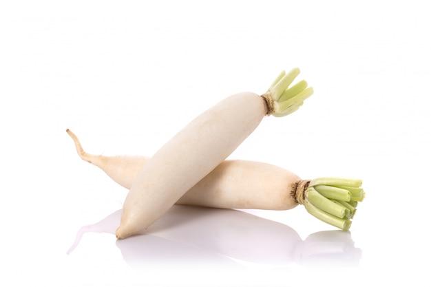 Radis blanc frais.