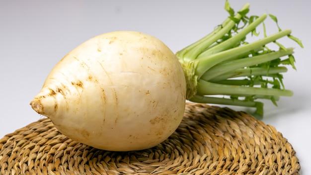 Radis blanc frais