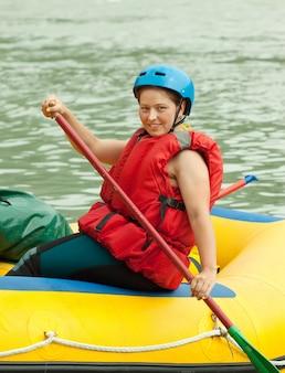 Rafting sur le radeau