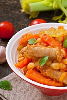 Ragoût marocain aux saucisses