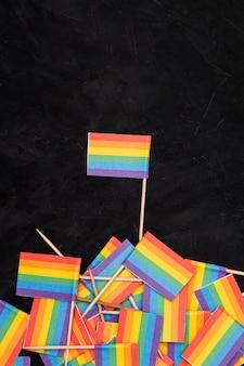 Rainbow lgbt flags