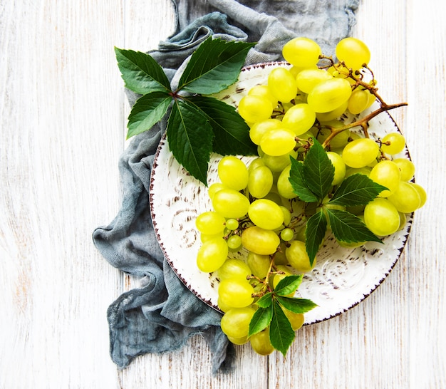Raisin vert frais