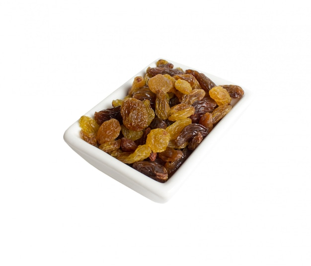 Raisins dans une assiette