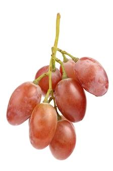 Raisins juteux sur blanc