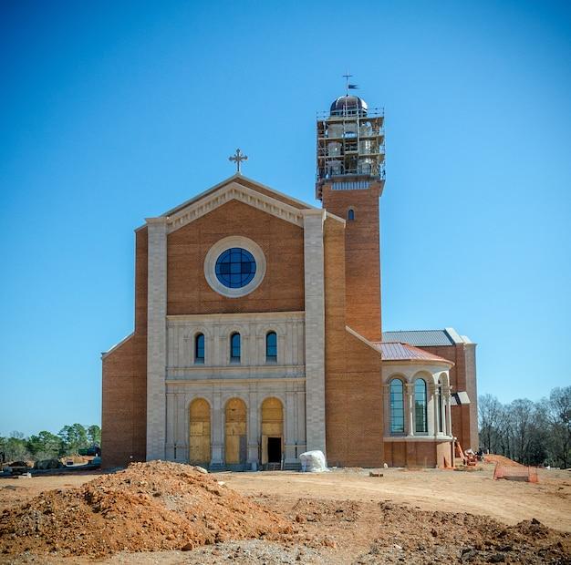 Raleigh en caroline du nord usa construction de la cathédrale saint-nom de jésus