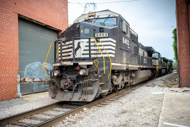 Raleigh en caroline du nord usa norfolk southern train