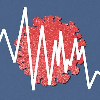 Ralentissement économique dû à l'illustration de fond du coronavirus
