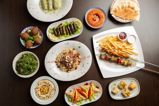 Ramadan cuisine typique de l'islam arabe moyen-orient