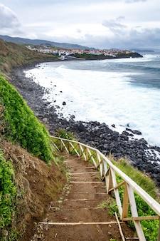 Randonnée au bord de l'océan