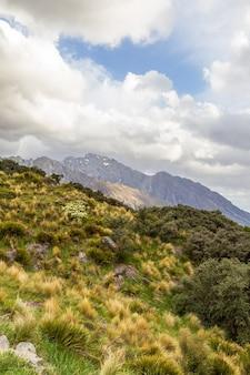 Randonnée dans les alpes du sud vers le lac tasman, île du sud, nouvelle-zélande