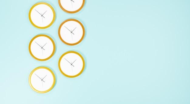 Rangée d'horloges