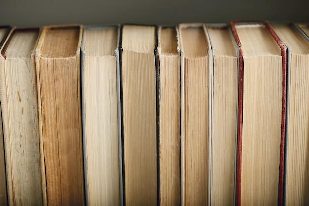 Rangée de livres, concept de littérature