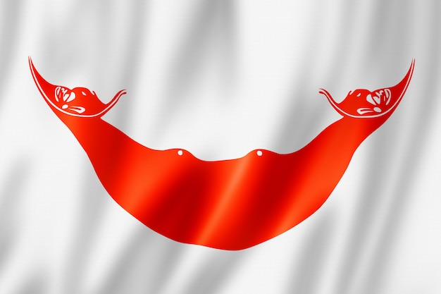 Rapanui, drapeau de l'île de pâques, chili