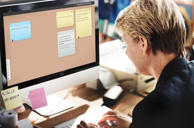 Rappel du bloc-notes se souvenir du concept de planification de la liste