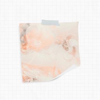 Rappel avec fond de fumée orange et ruban washi
