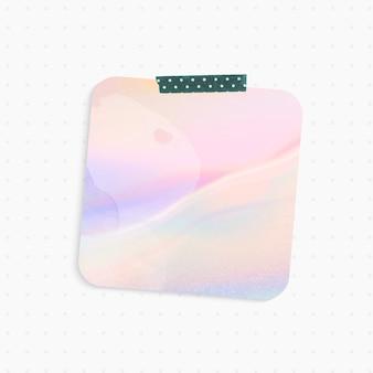 Rappel holographique avec forme carrée et ruban washi
