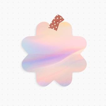 Rappel holographique avec forme de fleur et ruban washi