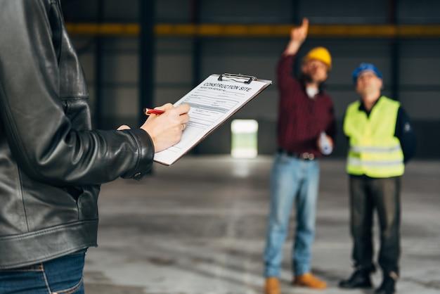 Rapport de l'inspecteur de chantier