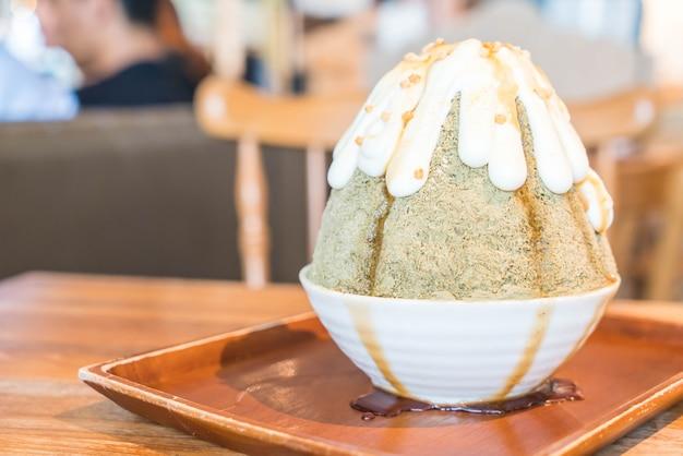Rasage de glace au thé vert matcha