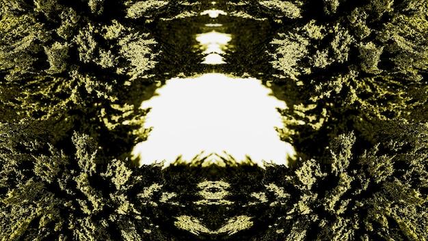 Rasage magnétique abstrait kaléidoscopique vert
