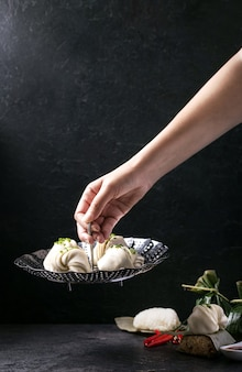 Raviolis chinois à la ciboulette