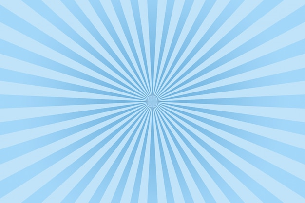 Rayons de couleur pastel bleu abstrait