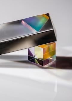 Rayons lumineux dans le prisme