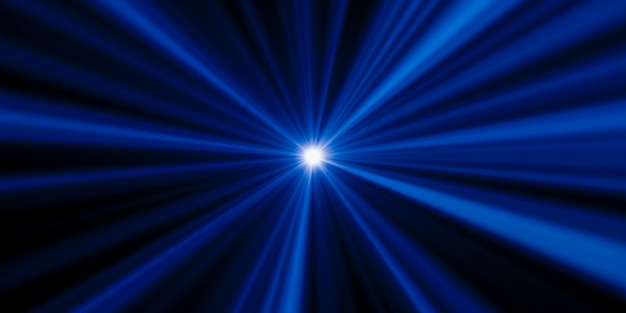 Rayons et rayons bluelight abstraits