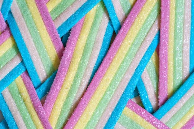 Rayures de bonbons arc-en-ciel de licorne