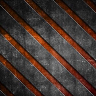 Rayures diagonales grunge sur fond orange