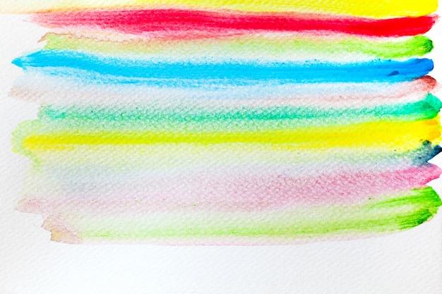 Des rayures horizontales de couleur