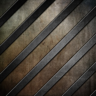 Rayures métalliques sur un fond de texture grunge