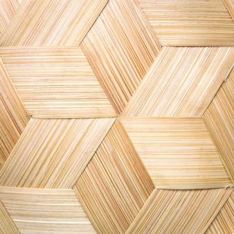 Rayures en tissage de bambou.