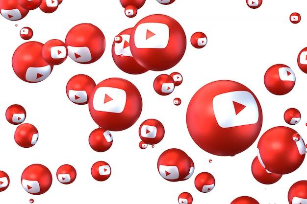 Réactions youtube emoji rendu 3d,