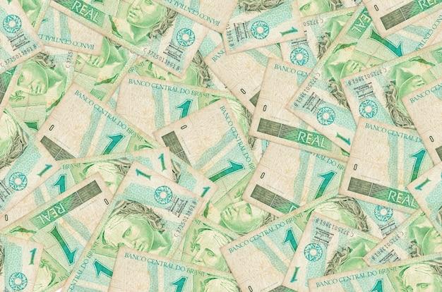 Real brésiliens factures se trouve dans de gros tas de vie riche contexte conceptuel grande quantité d'argent