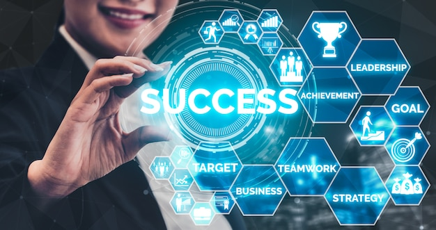 Réalisation et concept de réussite de l'objectif commercial.