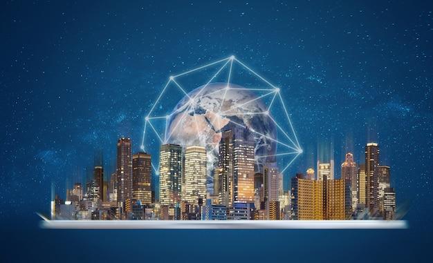 Réalité augmentée, technologie de ville intelligente.