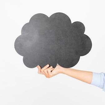 Recadrer la main avec une bulle de dialogue