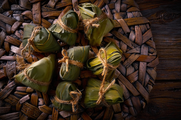 Recette de boulettes de riz gluantes gluantes zongzi