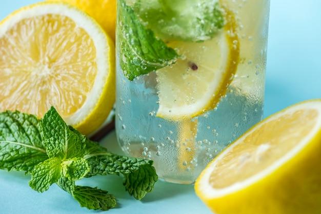 Recette de l'eau infusé au citron menthe