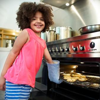 Recette ingrédients cookies pâtisserie maison concept