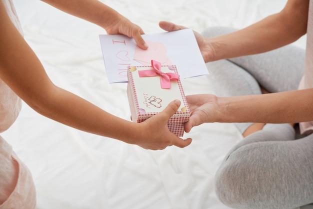 Recevoir un cadeau