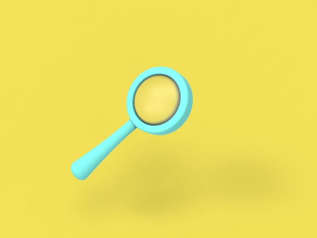 Recherche d'illustration 3d loupe en ligne trouver et découvrir le concept. minimalisme