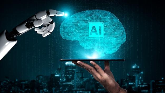 Recherche en intelligence artificielle de rendu 3d sur le développement de robots et de cyborg