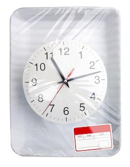 Récipient alimentaire en plastique emballé avec horloge