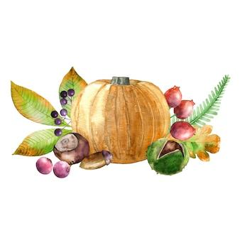 Récolte d'automne aquarelle