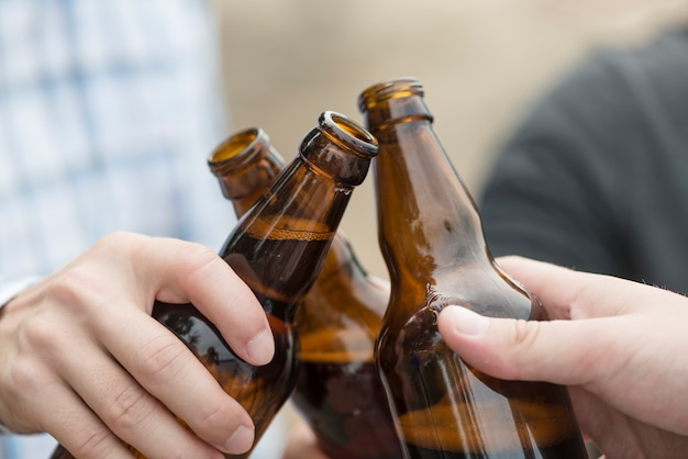 Récolte de bouteilles de bière