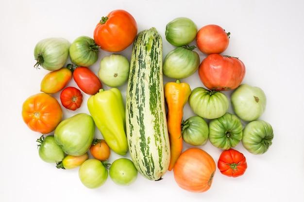 Récolte estivale de légumes